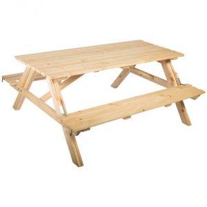 Table forestière pique-nique pliante 175 x 148 cm