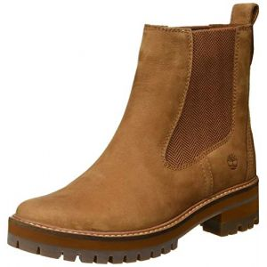 Timberland Courmayeur Valley, Bottes Chelsea Femme, Marron Medium Brown Nubuck, 38 EU