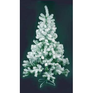 Sapin de Noël artificiel vert enneigé (210 cm)