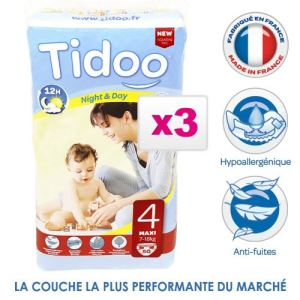 Tidoo Couches Jumbo Maxi taille 4 (7-18 kg)