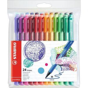 Stabilo pointMax 24 stylos feutres 0.8 mm