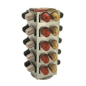 """Sefama 108480 - Tour capsules de café """"Tower"""" pour 40 capsules Nespresso et 4 boîtes"""