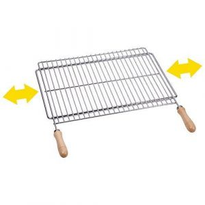 Sauvic 02815 - Grille de barbecue universelle inoxydable 60/70 x 40 cm