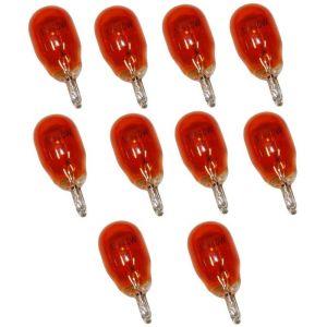 Aerzetix 10 Ampoules WY10W T13 12V 10W Ambré Orange W2.1x9