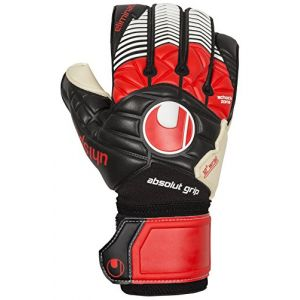 Uhlsport 100016301 Eliminator Gants de Gardien de But Noir/Rouge/Blanc Taille 10,5