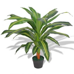 VidaXL Plante artificielle avec pot Dracaena 90 cm Vert