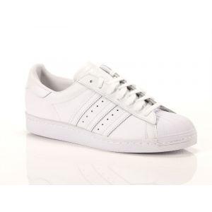 Adidas Superstar 80S, S79443, Basket Mode Homme, Blanc Cassé (FTWR White/FTWR White/Core Black), 44 2/3 EU