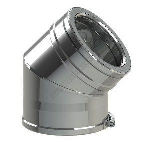 Ten COUDE A 45° DUOTEN INOX316/I304 150-200