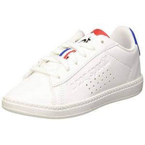 Le Coq Sportif Courtset GS, Baskets Mixte Enfant, Blanc Optical White/Cobalt, 37 EU