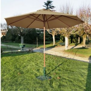 Proloisirs Parasol 350 Manivelle Taupe