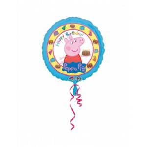 Ballon aluminium Happy Birthday Peppa Pig (43 cm)