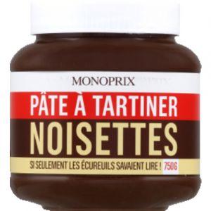 Monoprix Pâte à tartiner aux noisettes - Le pot de 750g