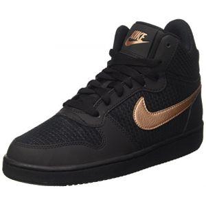 Nike W Court Borough Mid Prem Chaussures de Sport Femme, Noir MTLC Red Bronze/Black, 38 EU