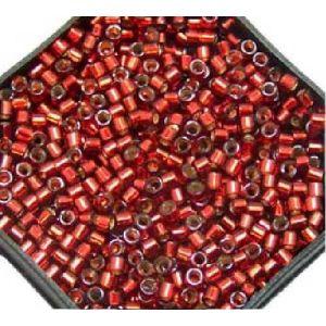 Rayher Perles Miyuki Delica 10/0 garniture argent rouge - DMB 603