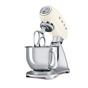 Smeg Robot sur Socle avec Bol Inox 4,8 Litres + Kit Pâtissier (fouet, Batteur, Pétrin)