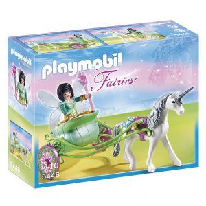 Playmobil 5446 Fairies - Fée papillon avec calèche et licorne