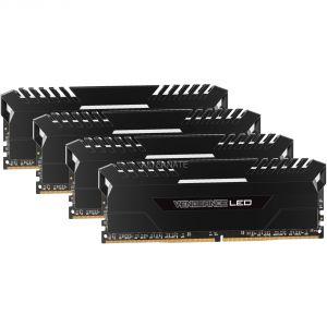 Corsair CMU32GX4M4A2666C16 - Barrette mémoire Vengeance LED Series 32 Go (4x 8 Go) DDR4 2666 MHz CL16