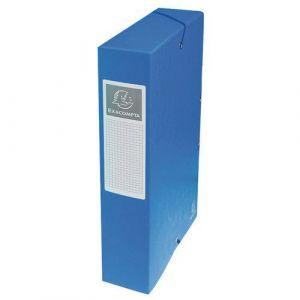 Exacompta 50602E - Boîte à élastique EXABOX, carte lustrée, dos de 60, bleu
