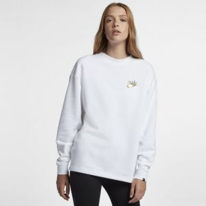 Nike Sweat métallisé Sportswear Rally pour Femme - Blanc - Taille M
