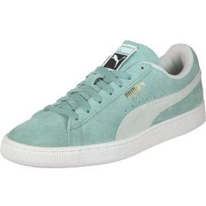 Puma Suede Classic, Sneakers Basses Mixte Adulte, Vert (Aquifer White), 46 EU