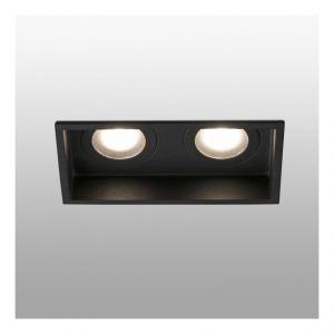 Faro Barcelona 40125 - HYDE Lampe encastrable noir carré 2L