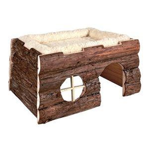 Trixie Maisonette en bois avec lit pour rongeur (39 x 20 x 29 cm)