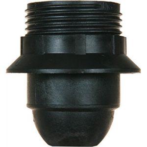 L'ébénoïd Douille E27 bakélite - Raccord diamètre 10 mm - Noir