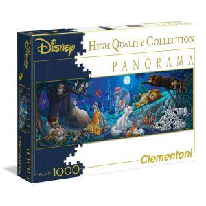 Clementoni Puzzle panoramique Bonne nuit les héros Disney 1000 pièces