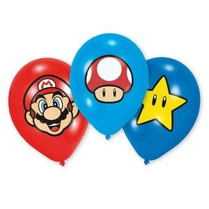 6 ballons latex Super Mario
