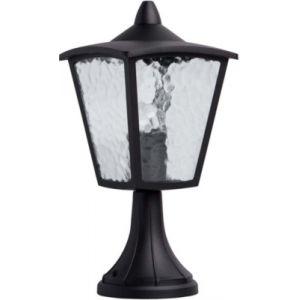 MW-Light Lanterne de jardin sur pied gamme Street - Noir - E27 - 60W - 2700K - IP44 - Non dimmable - Aluminium et Verre - Sans ampoule - DEMARKT