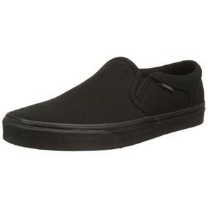 Vans M ASHER, Sneakers basses homme, Canvas Black Black, 40