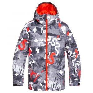 Quiksilver Mission-Veste de Ski/Snowboard pour Garçon 8-16 Ans, Poinciana giantforce, FR (Taille Fabricant : 14/XL)
