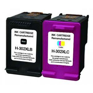 H.Koenig Cartouches compatibles HP 302XL (Noir + Couleur)
