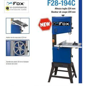Fox Soldes - Scie à ruban VOLANT 345mm en FONTE L:2560mm 1100W (moteur induction) - F28-194C