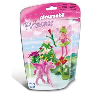 Playmobil 5351 Princess - Fée printemps avec poulain ailé rose
