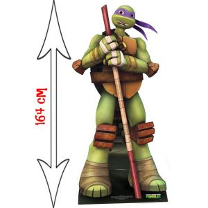 Figurine géante en carton Donatello Tortue Ninja (164 cm)