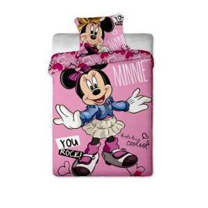 Parure de lit Minnie Cool Disney réversible (140 x 200 cm)