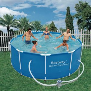 Bestway Piscine Tubulaire Amovible Steel Pro 305x100 cm