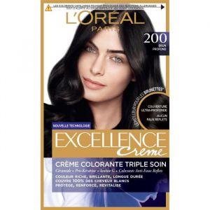 L'Oréal Crème coloration tiple soin 200 brun profond