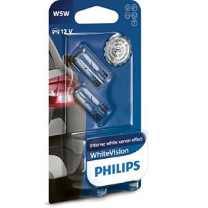 Philips 2 Ampoules W5w 12v 65w T10 Whitevision - 12961nbvb2