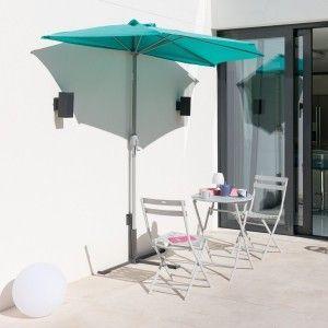 Hesperide Demi parasol de balcon Serena Emeraude