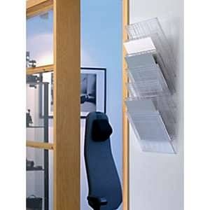 Durable 1709785400 - Présentoir mural FLEXIBOXX 6 A4 LS, pour documents A4, transparent