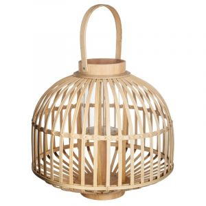 Lanterne en rotin en forme de jupon d 37 x h 35 cm