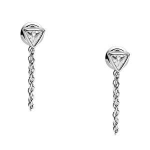 Fossil Femme Acier Boucles d'oreilles pendantes - JF02975040