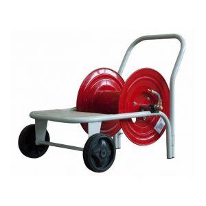 Ama Enrouleur métallique sur chariot pour 100 m de tuyau