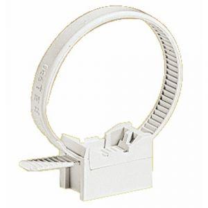 Schneider Electric Collier à embase pour tube IRL 16 à 32mm - gris - Mureva Fix