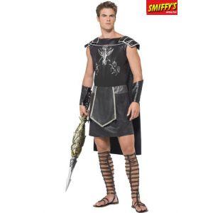 Smiffy's Costume de gladiateur de l'ombre pour homme, noir, avec tunique et manchettes