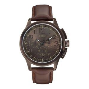Guess W0067G4 - Montre pour homme avec bracelet en cuir