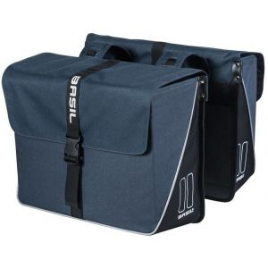 Basil Sacoches de porte bagage forte double 35l navy bleu
