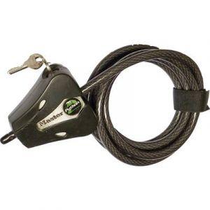 Master Lock Python Câble antivol compact Noir revêtement vinyle